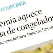 Mais uma matéria no jornal O Globo sobre a Deep Freeze Congelados!