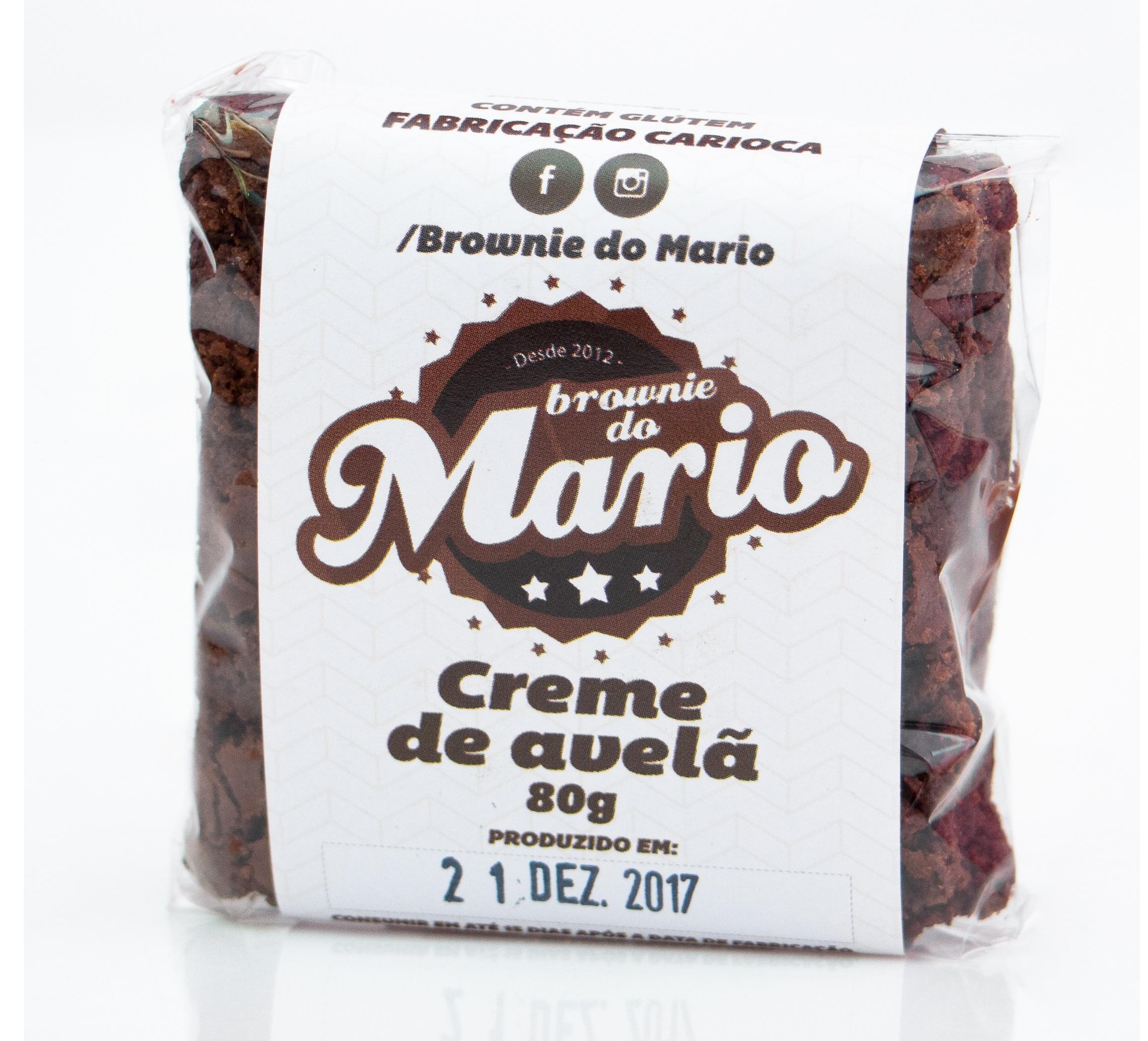 Brownie do Mario recheado com Creme de Avelã Congelado