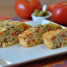 Torta Soufle de Legumes . Clique para mais informações.