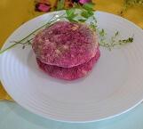 Hambúrguer Vegetariano de Beterraba (1 unidade). Clique para mais informações.