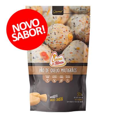 Pão de Queijo Carioca de Minas Multigrãos. Clique para mais informações.