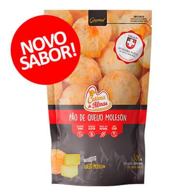 Pão de Queijo Carioca de Minas Moleson. Clique para mais informações.