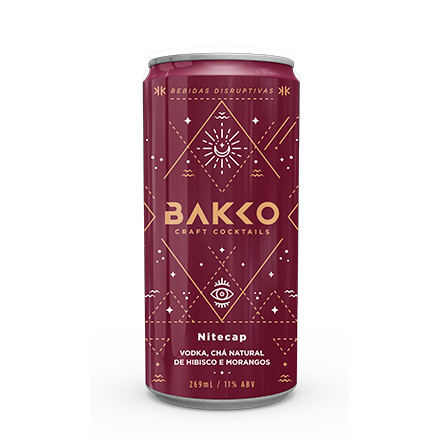 Bakko Nitecap - Vodka, Chá de Hibisco e Morangos