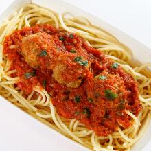 Spaghetti com Almôndegas. Clique para mais informações.