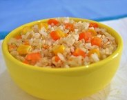 Arroz Integral com Cenouras e Milho Congelado Light