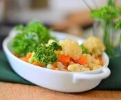 Brócolis, Couve-flor e Cenoura. Clique para mais informações.