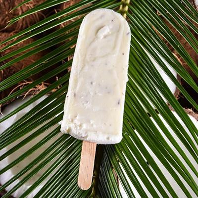 Picolé de Coco. Clique para mais informações.