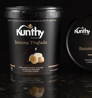 Sorvete Gelato Banana Trufada . Clique para mais informações.