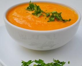 Sopa Creme de Cenoura. Clique para mais informações.