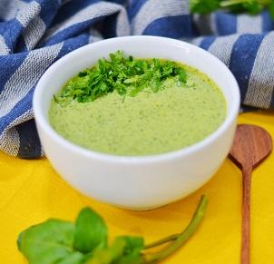 Sopa Creme de Agrião. Clique para mais informações.