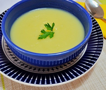 Sopa Creme de Batata Doce com Gengibre. Clique para mais informações.