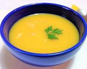 Sopa de Mandioquinha com Camarão