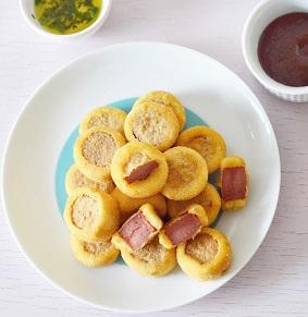 Empanado de Salsicha Frito Congelado. Clique para mais informações.